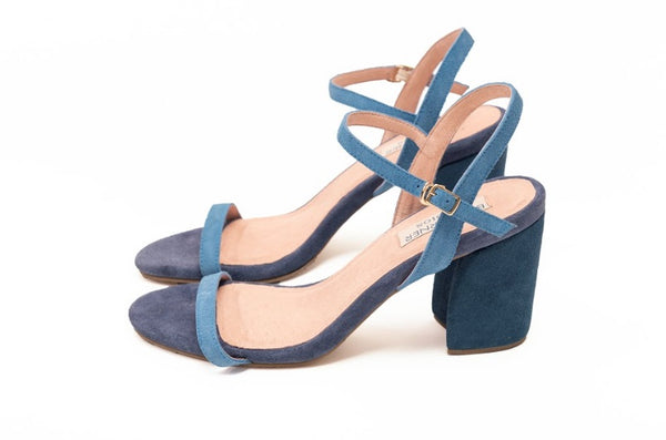 Mark Bumgarner Michelle Sandals in Blue and Navy