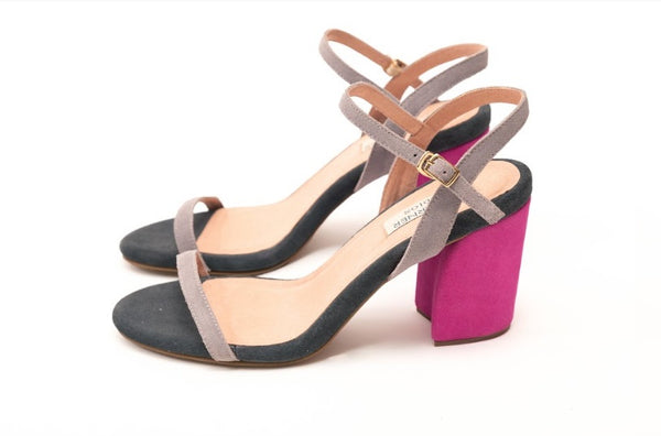 Mark Bumgarner Michelle Sandals in Gray and Blush