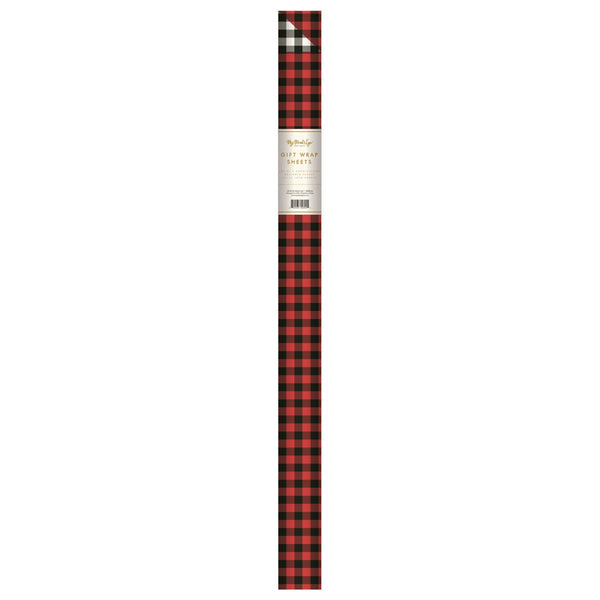 My Mind's Eye Gift Wrap (Red Check/Black Check)