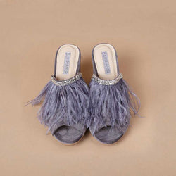 Mark Bumgarner Camille Heel Slides in Gray