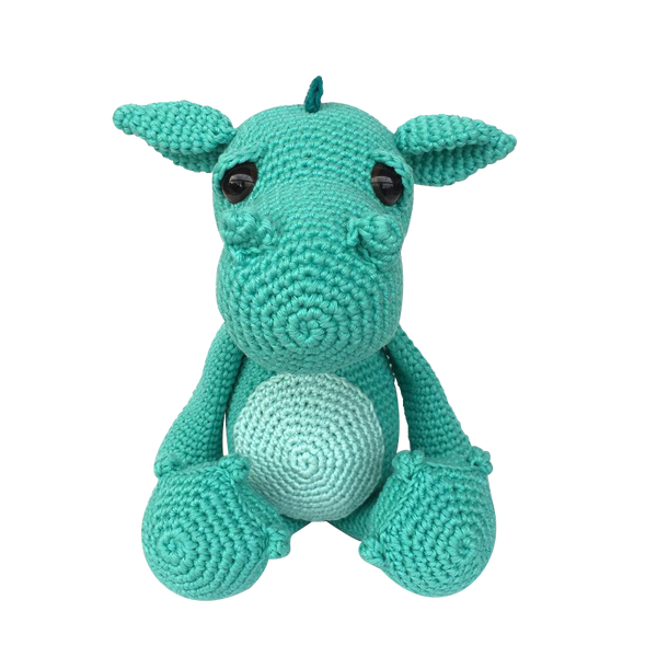 Mayown Crocheted Stuffed Dragon (Blue)