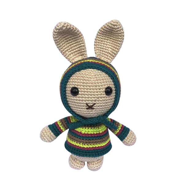 Mayown Crocheted Stuffed Bunny (Neon)