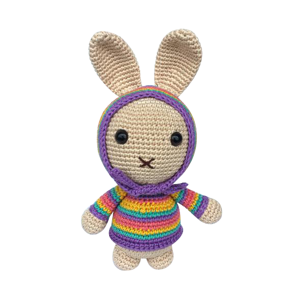 Mayown Crocheted Stuffed Bunny (Pastel)