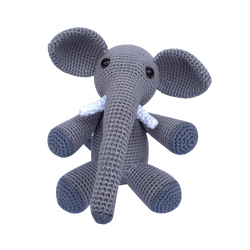 Mayown Crocheted Stuffed Elephant (Grey)
