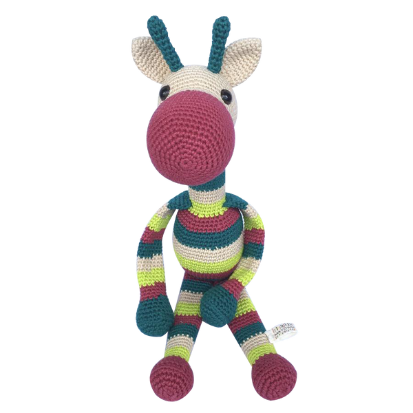 Mayown Crocheted Stuffed Giraffe (Neon)