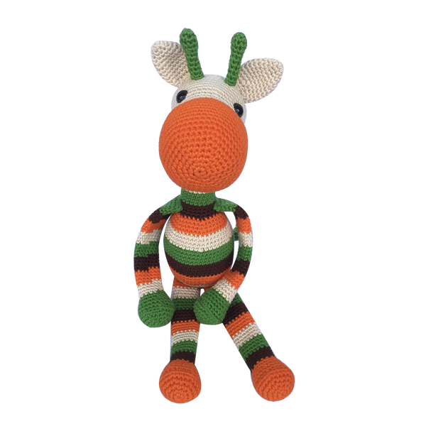 Mayown Crocheted Stuffed Giraffe (Retro)