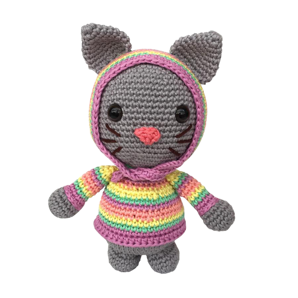 Mayown Crocheted Stuffed Kitten (Pastel)