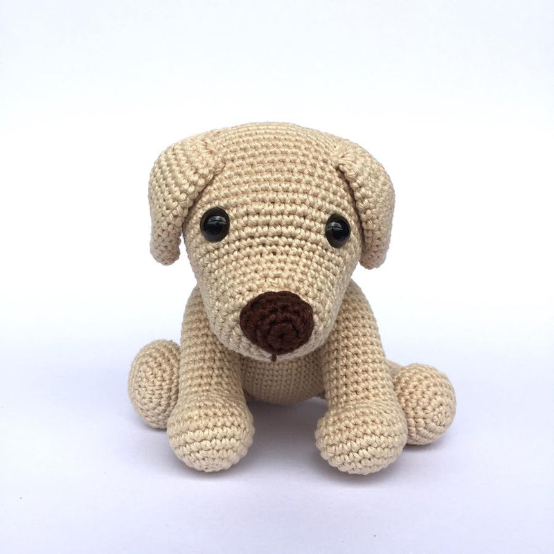 Mayown Crocheted Stuffed Labrador (Beige)