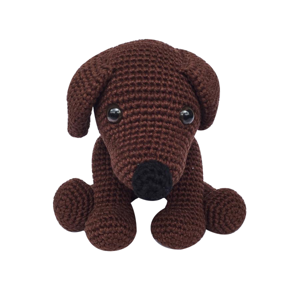 Mayown Crocheted Stuffed Labrador (Brown)
