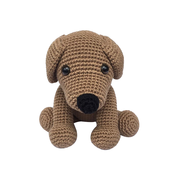 Mayown Crocheted Stuffed Labrador (Light Brown)