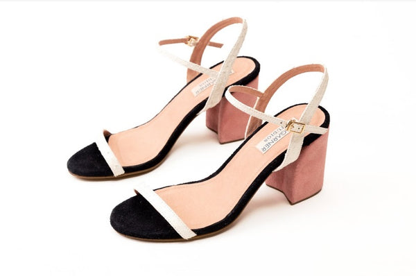 Mark Bumgarner Michelle Sandals in White and Blush
