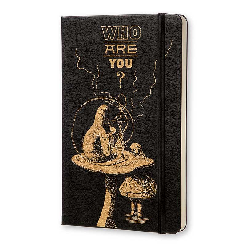 "Moleskine Limited Edition Alice in Wonderland Large (5"" x 8.25"") Hard Cover Notebook"