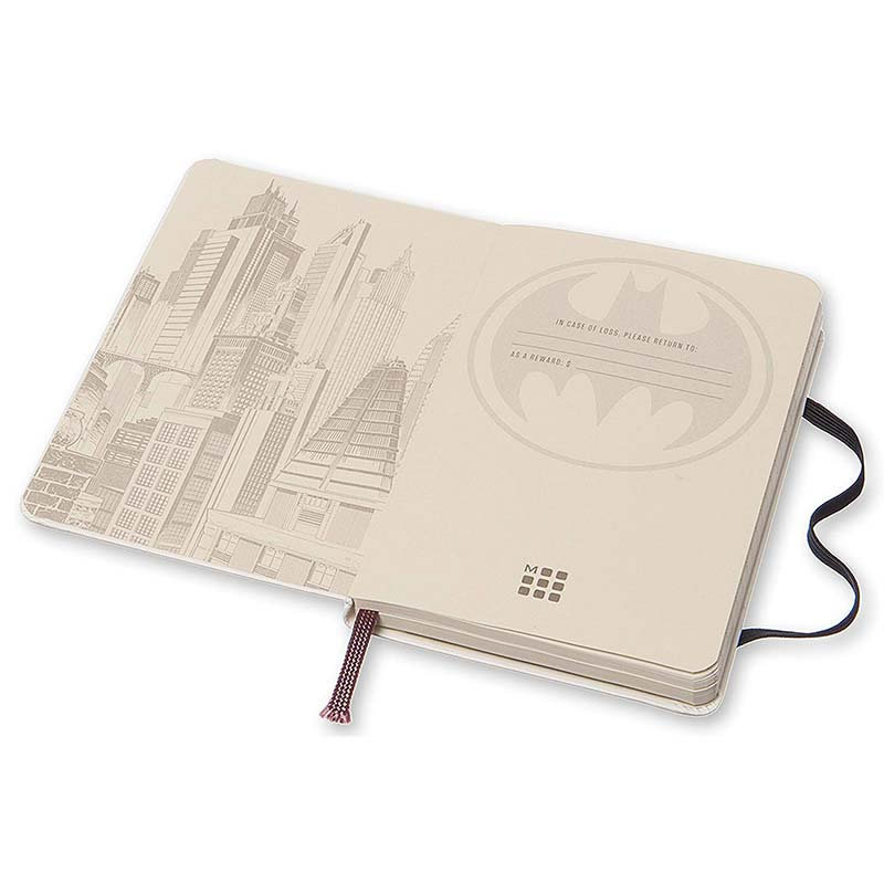 "Moleskine Limited Edition Batman Large (5"" x 8.25"") Hard Cover Notebook"