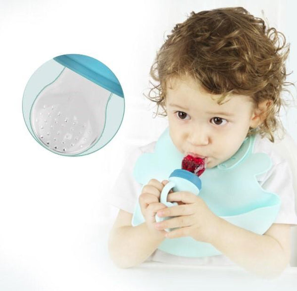Owl Baby Silicone Teether and Nutritional Fruit Feeder