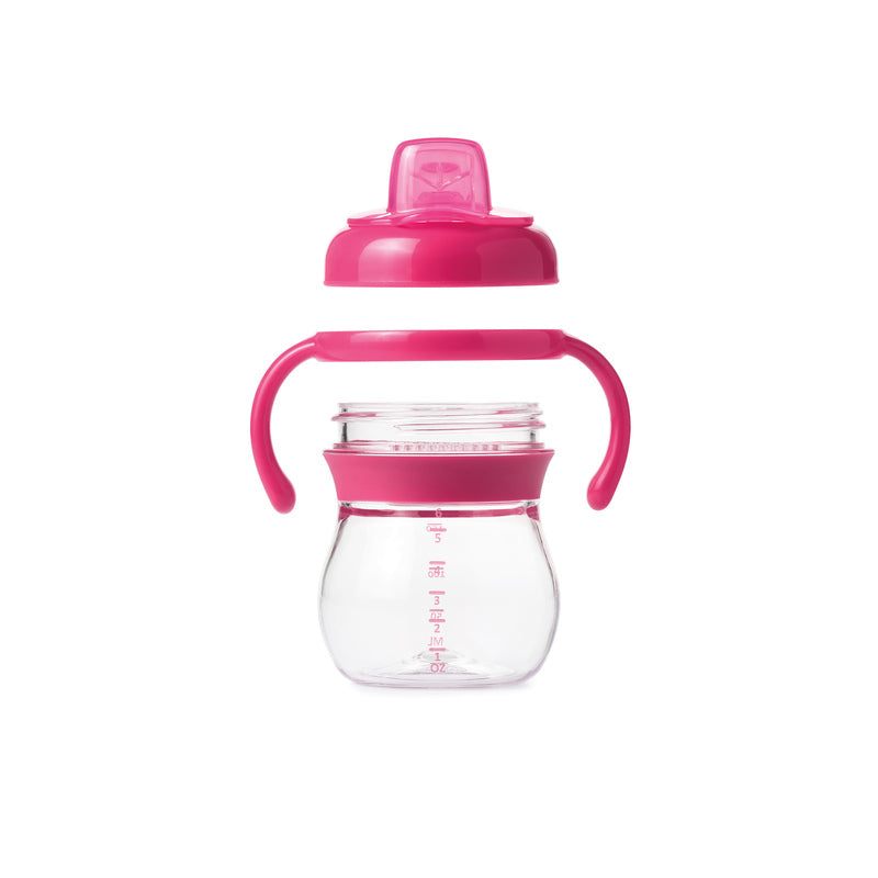 OXO Tot Grow Soft Spout Cup with Removable Handles - 6 oz. (Pink)