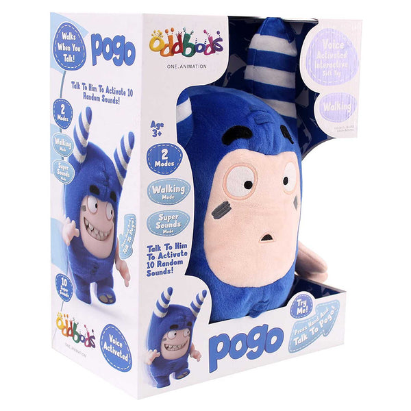 Oddbods Voice Activated Interactive Pogo Plush Toy