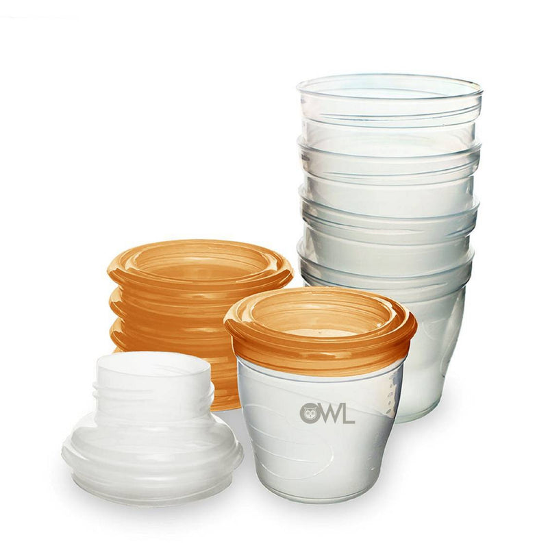 Owl Baby Multi-stage Feeding and Breastmilk Storage Cups