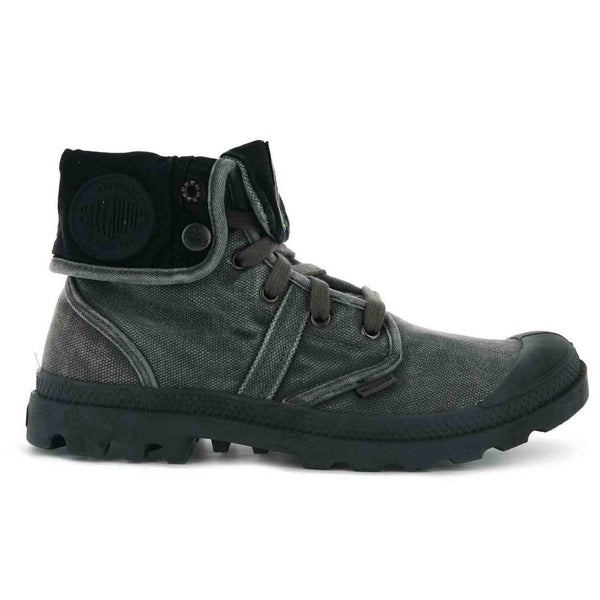 Palladium Men's Boots | Pallabrouse Baggy in Black/Metal Black