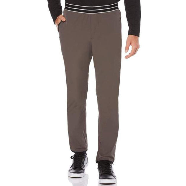 Perry Ellis Men's Active Solid Jogger in Gray
