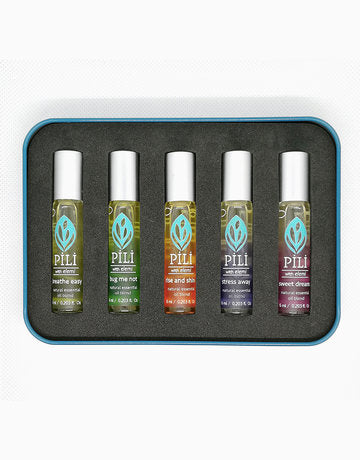 Pili Essential Oil Blend Travel Kit (Set of 5)