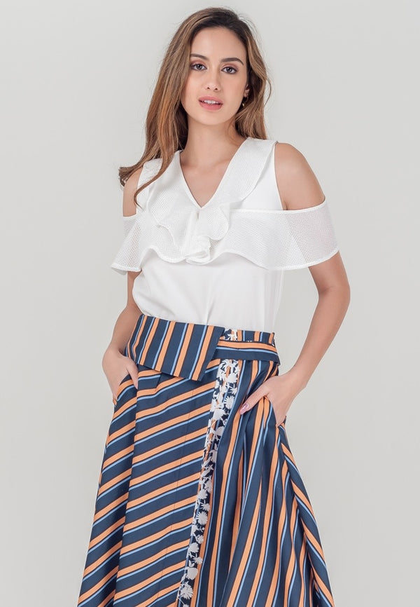 Plains and Prints Rosaine sleveless with side arm top