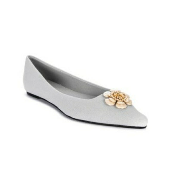 Daily Schedule NY Floral Flats in Gray