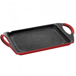 STONELINE® Roasting Plate 45 x 27 cm, red