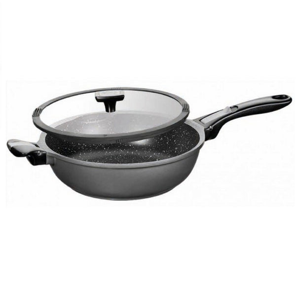 STONELINE® Imagination Stewing pan 24 cm, with exchangeable and removable handles, with glass lid