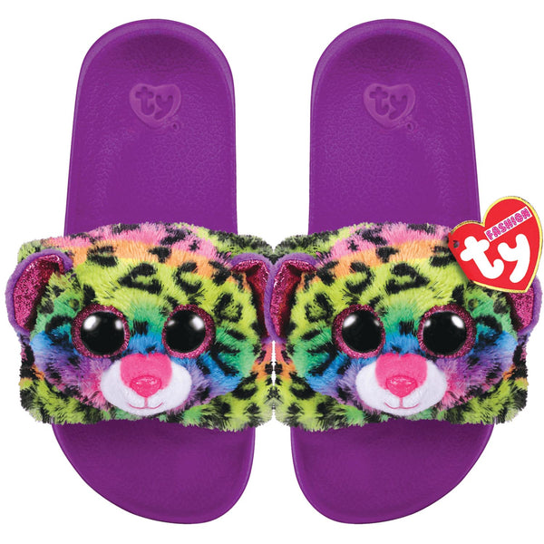 Ty Beanie Boos Dotty Leopard Reversible Sequin Slides