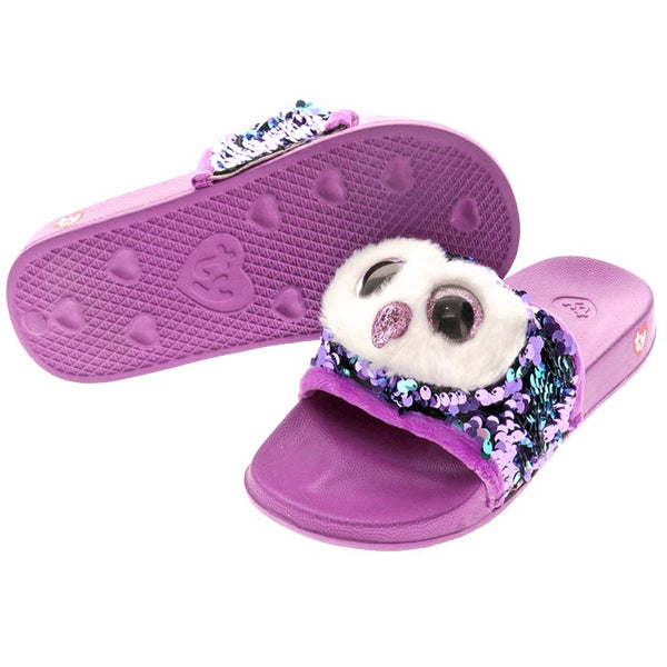 Ty Beanie Boos Moonlight Owl Reversible Sequin Slides