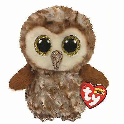 Ty Beanie Boos - Percy the Brown Owl