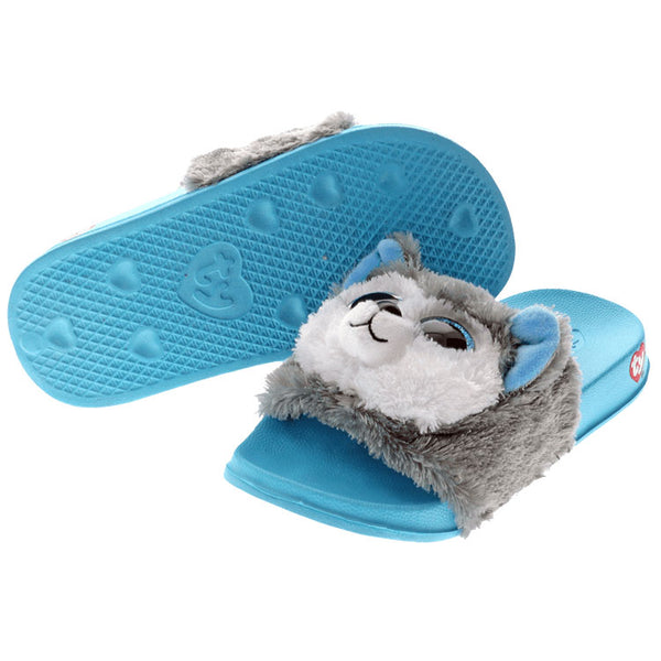 Ty Beanie Boos Slush Husky Reversible Sequin Slides
