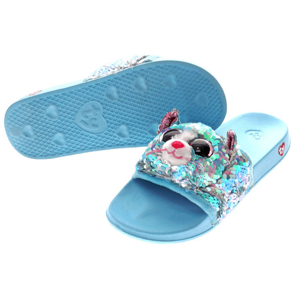 Ty Beanie Boos Whimsy Cat Reversible Sequin Slides