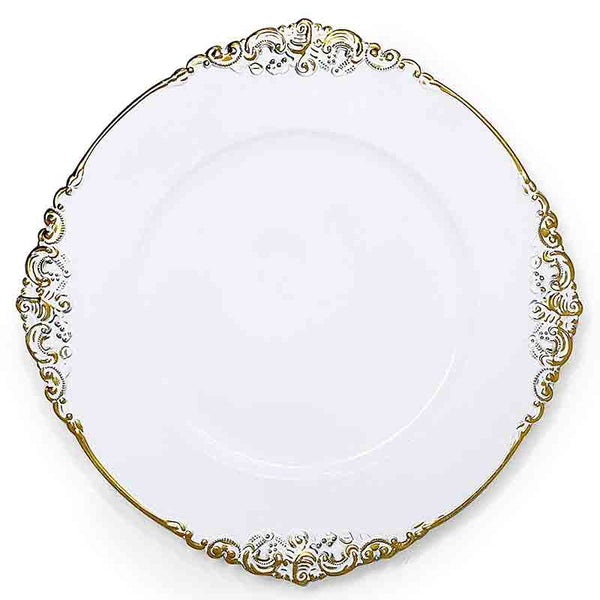 Vintage Round Charger Plate