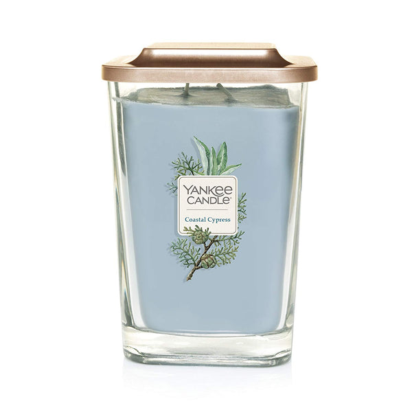 Yankee Candle Elevation Collection Large 2-Wick Square Scented Candle | Coastal Cypress