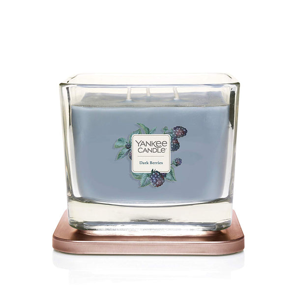Yankee Candle Elevation Collection Medium 3-Wick Scented Candle | Dark Berries