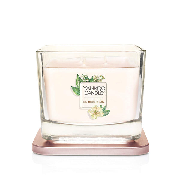 Yankee Candle Elevation Collection Medium 3-Wick Scented Candle | Magnolia & Lily