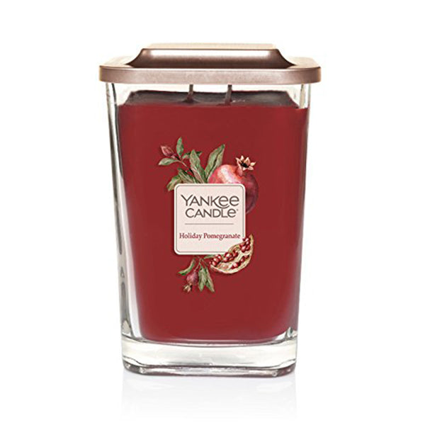 Yankee Candle Elevation Collection Large 2-Wick  Square Scented Candle | Holiday Pomegranate