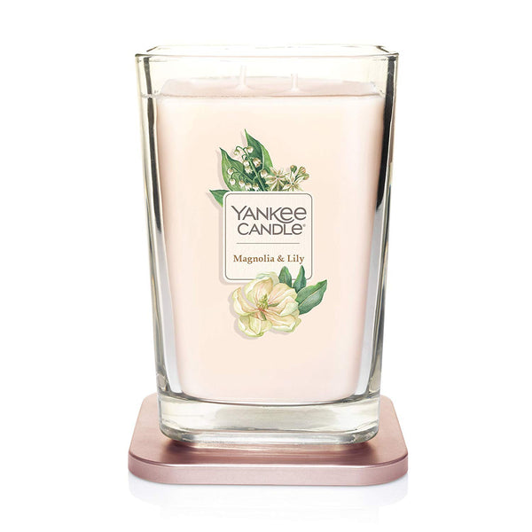 Yankee Candle Elevation Collection Large 2-Wick Square Scented Candle | Magnolia & Lily