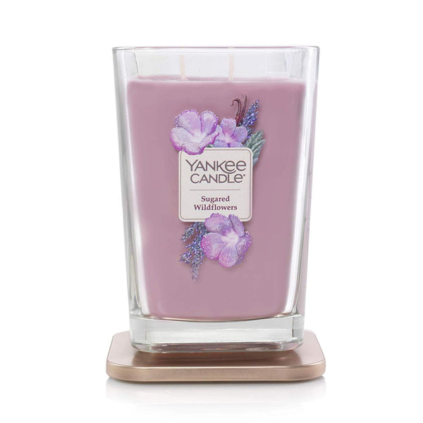 Yankee Candle Elevation Collection Large 2-Wick Square Scented Candle | Sugared Wildflowers