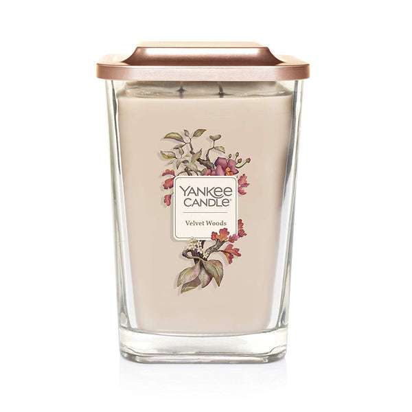 Yankee Candle Elevation Collection Large 2-Wick Square Scented Candle | Velvet Woods