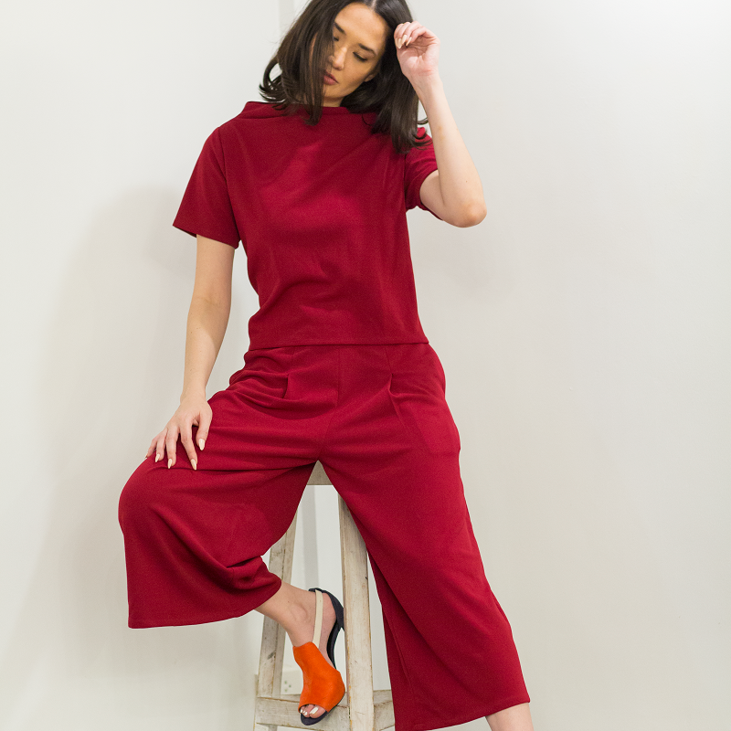 Canvas Amante Pants in Wine