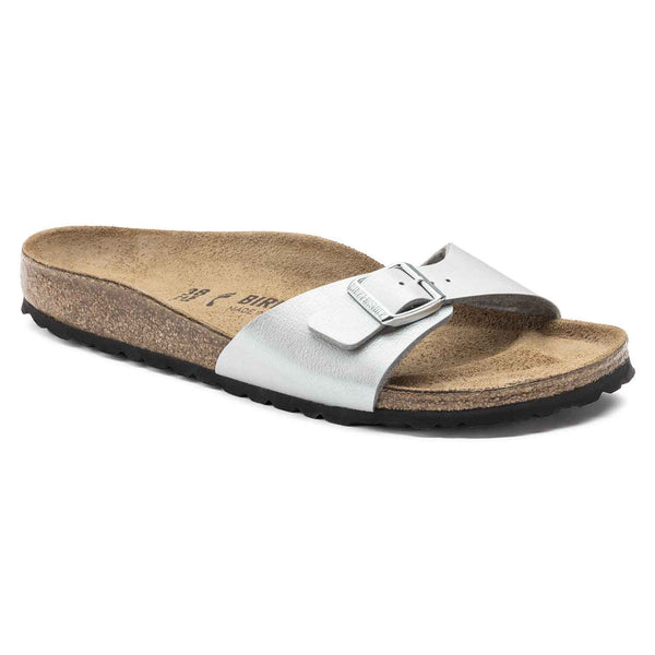 Birkenstock Women's Madrid Birko-Flor® in Graceful Silver