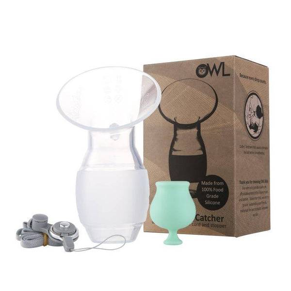 Owl Baby Silicone Breast Pump and Breastmilk Catcher