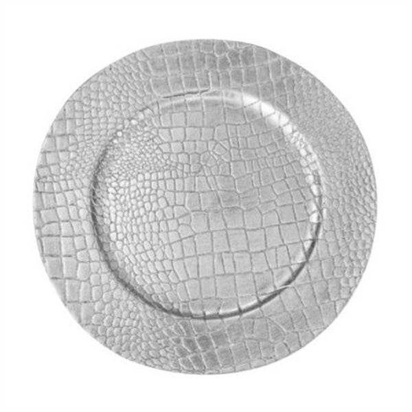 Charger Plate With Crocodile Skin