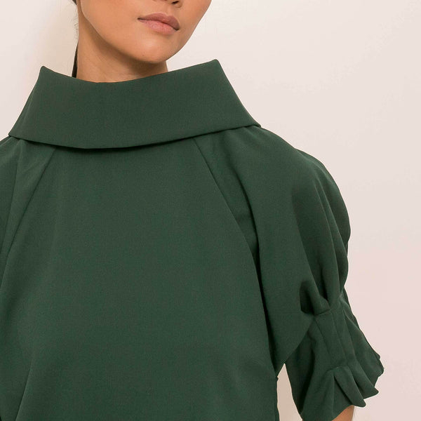 Alby Top in Dark Emerald