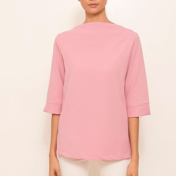 Canvas Amalia Top in Pink Rose