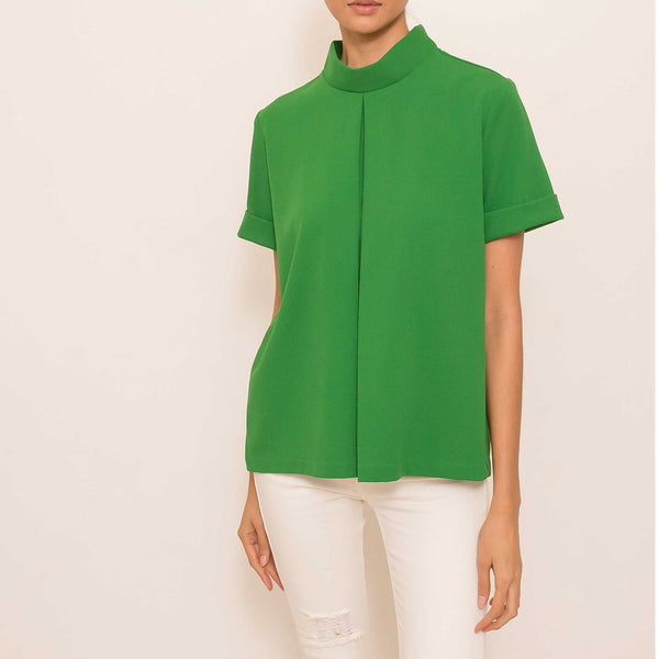 Canvas Bea Top in Green