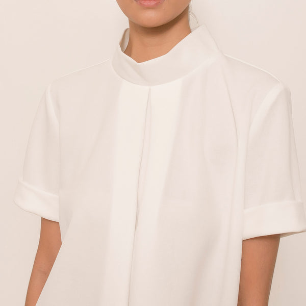 Canvas Bea Top in Off White