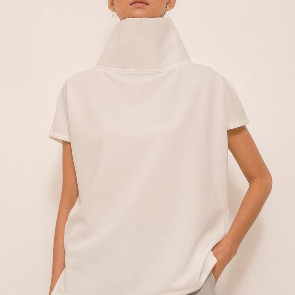 Canvas Dennie Top in White